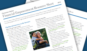 Servicemembers and Veterans Financial Empowerment Resource Sheet