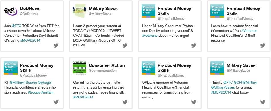 Military Consumer Protection Day Twitter Chat
